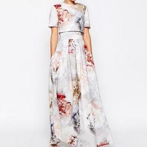 Asos scuba crop top maxi dress